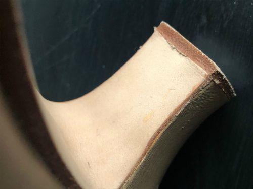 heel of the capezio manhattan character shoe