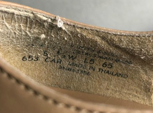 inside of the capezio manhattan character shoe