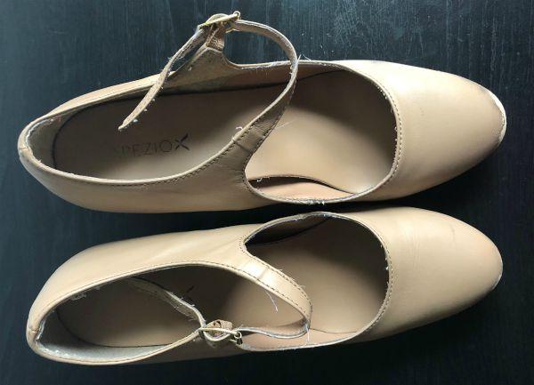 instep of capezio manhattan character shoe