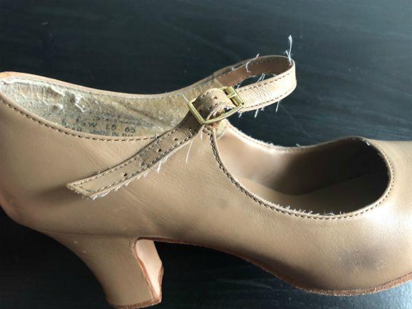 capezio manhattan character shoe wear on straps