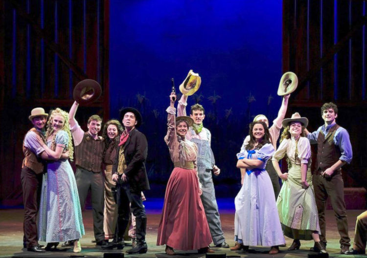High school students performing the Oklahoma! musical