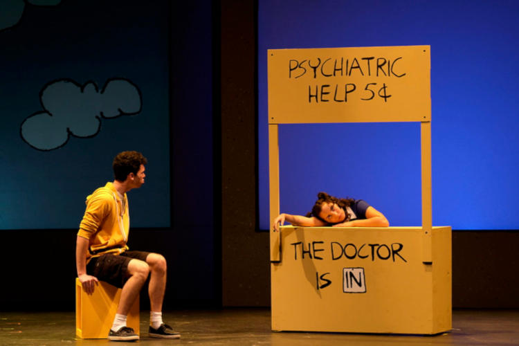 A high school production of the musical You're a Good Man, Charlie Brown