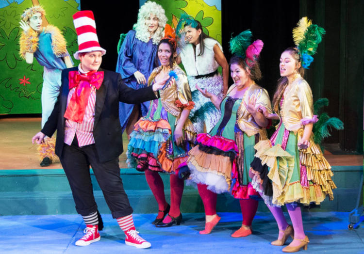 Actors performing Seussical the musical with a large cast