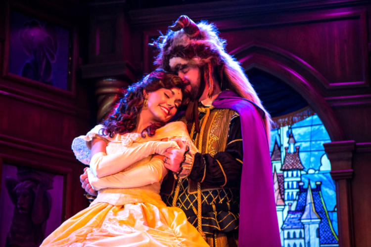 Actors in Beauty and the Beast, one of the most popular musicals for high school