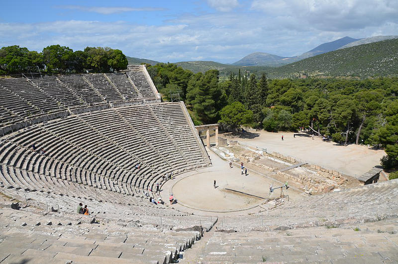 ancient Greek theater made of stone