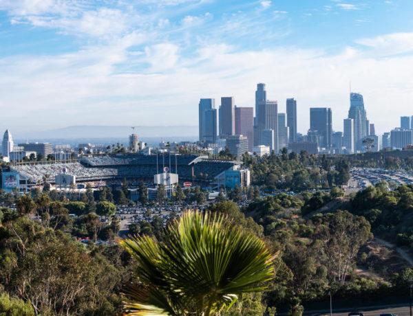 city skyline of Los Angeles