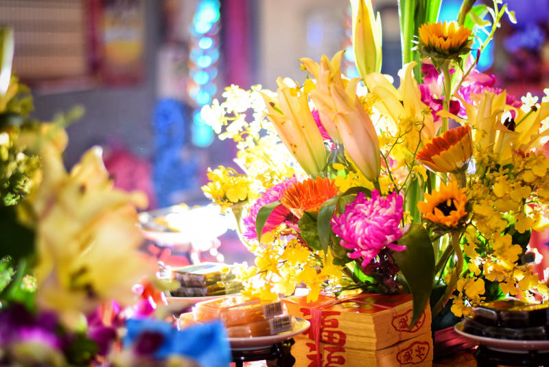 opening night flowers in a theater